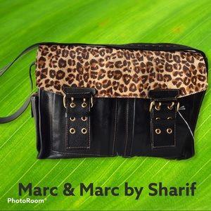Sharif Leather & Haircalf Convertible Satchel